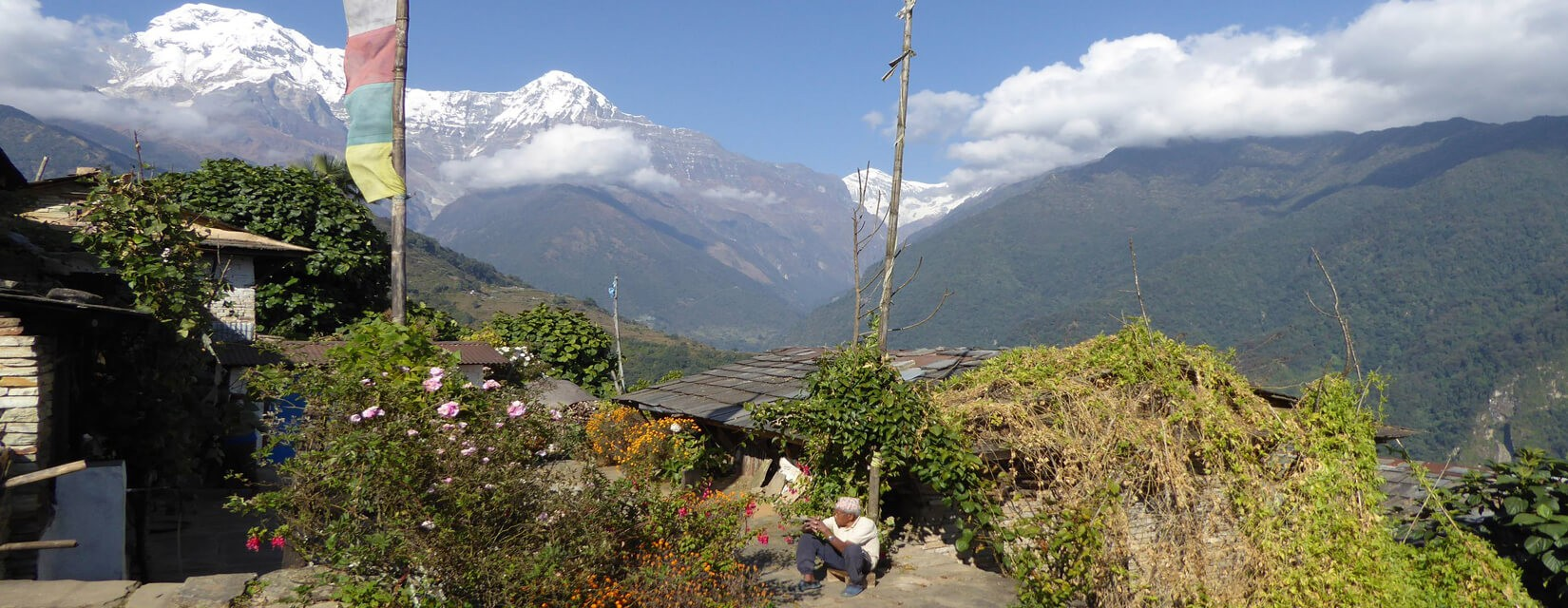 Himalaya view from Ghandruk